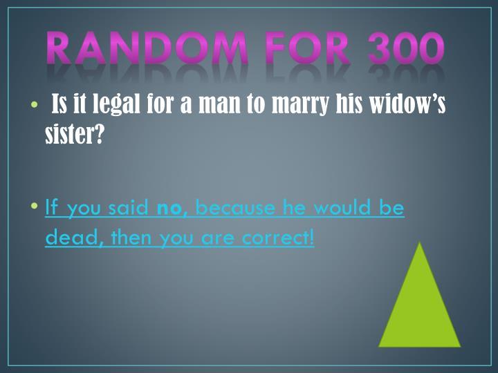 Random for 300