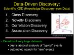 data driven discovery scientific kdd knowledge discovery from data