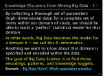 knowledge discovery from mining big data 1 2