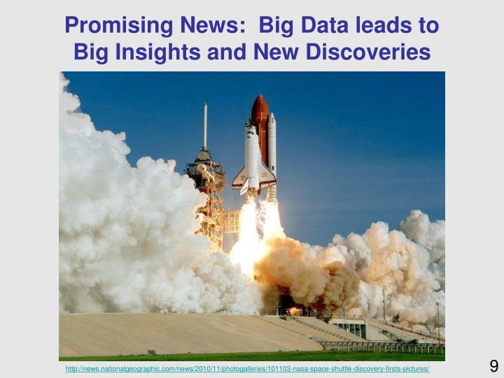 Promising News:  Big Data leads to