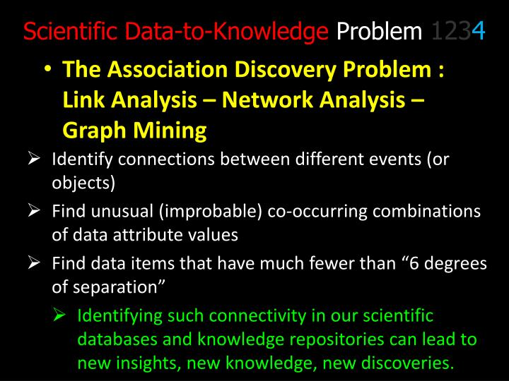 Scientific Data-to-Knowledge