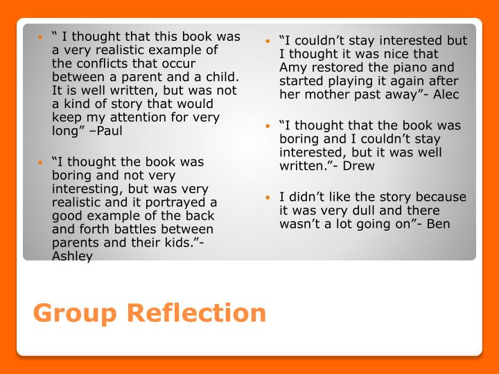 Group Reflection