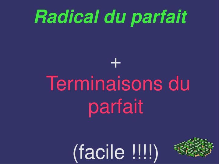 Radical du parfait