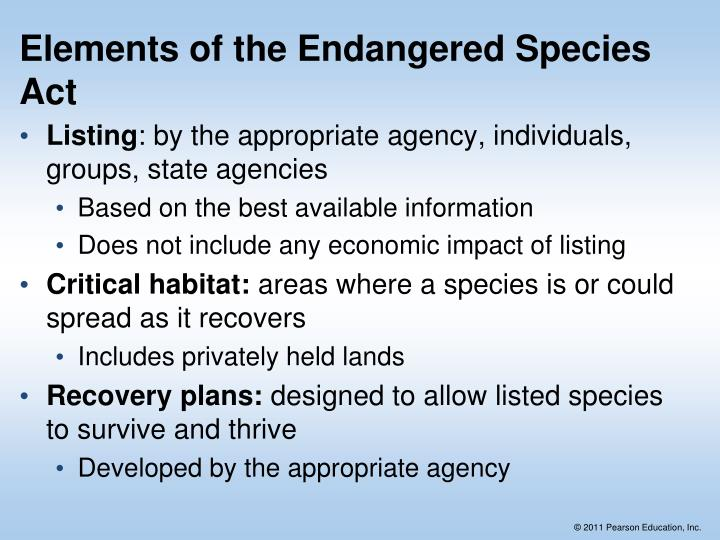 Elements of the Endangered Species Act
