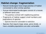 habitat change fragmentation