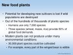 new food plants