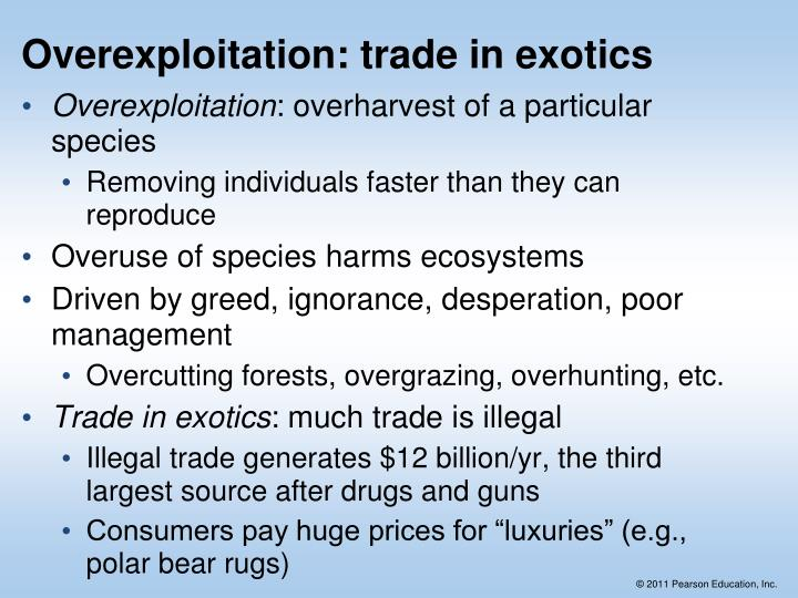 Overexploitation: trade in exotics