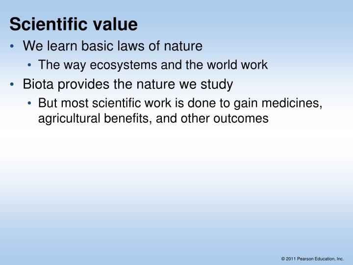 Scientific value