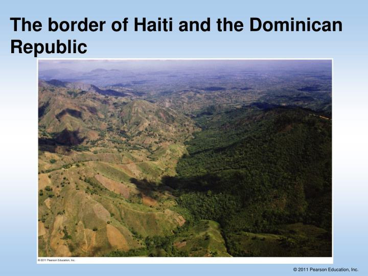 The border of Haiti and the Dominican Republic