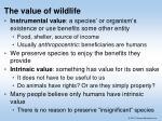 the value of wildlife