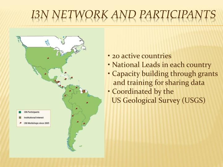 I3n network and participants