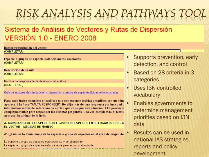 Risk Analysis and Pathways