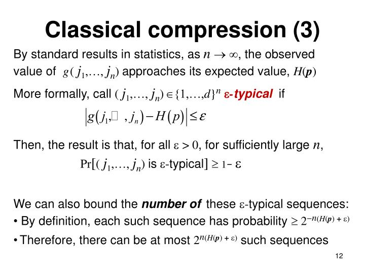 Classical compression (3)