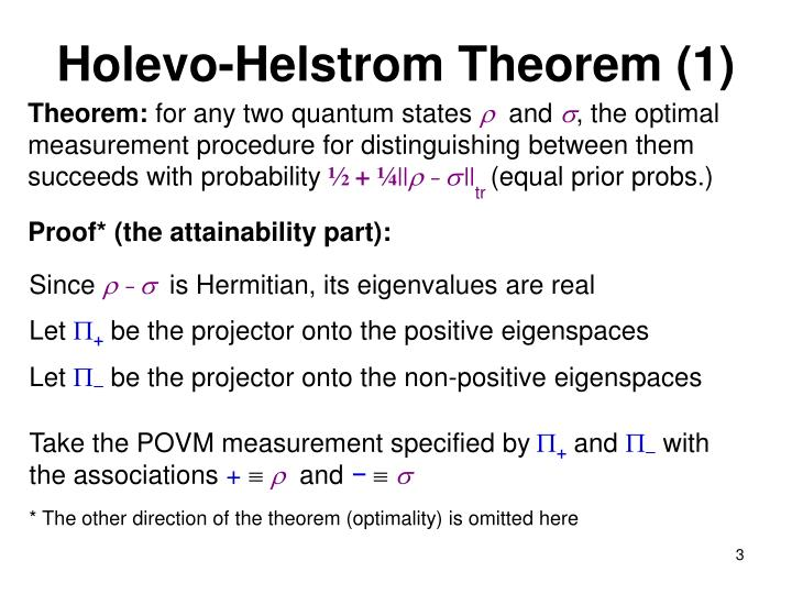 Holevo-Helstrom Theorem (1)