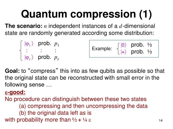 Quantum compression (1)