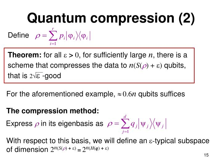 Quantum compression (2)