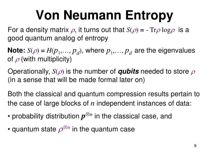 Von Neumann Entropy