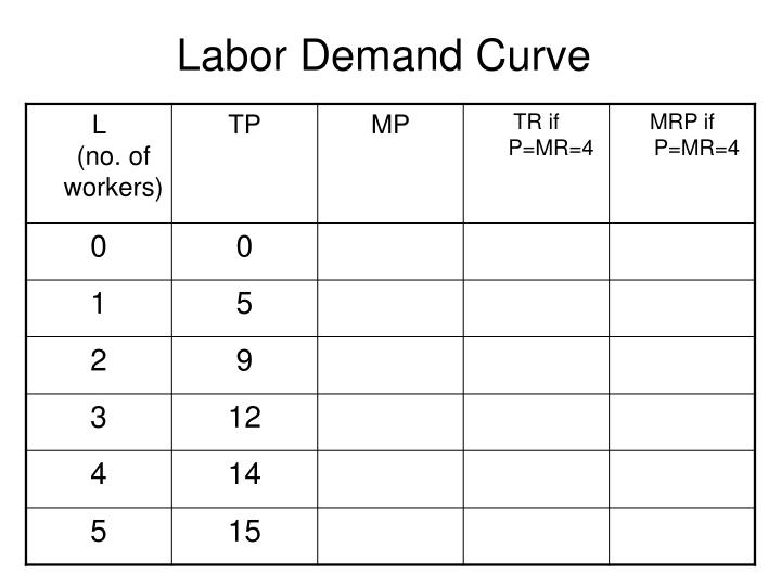 Labor Demand Curve