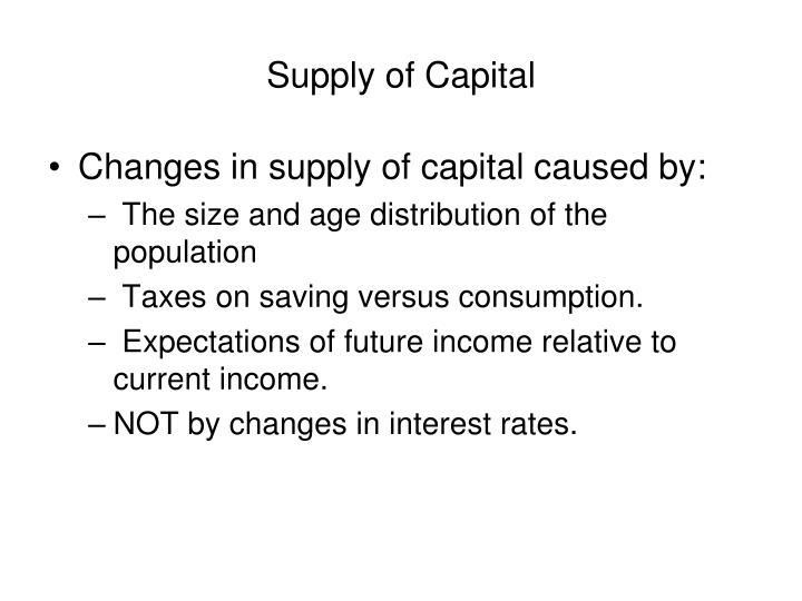 Supply of Capital