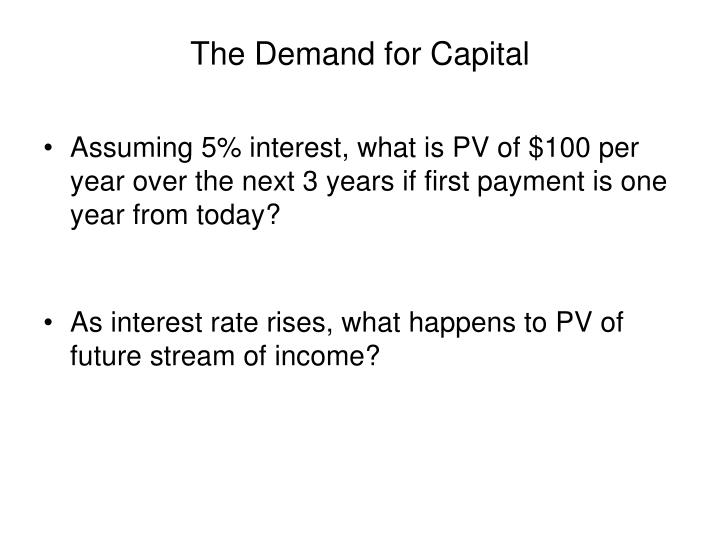 The Demand for Capital