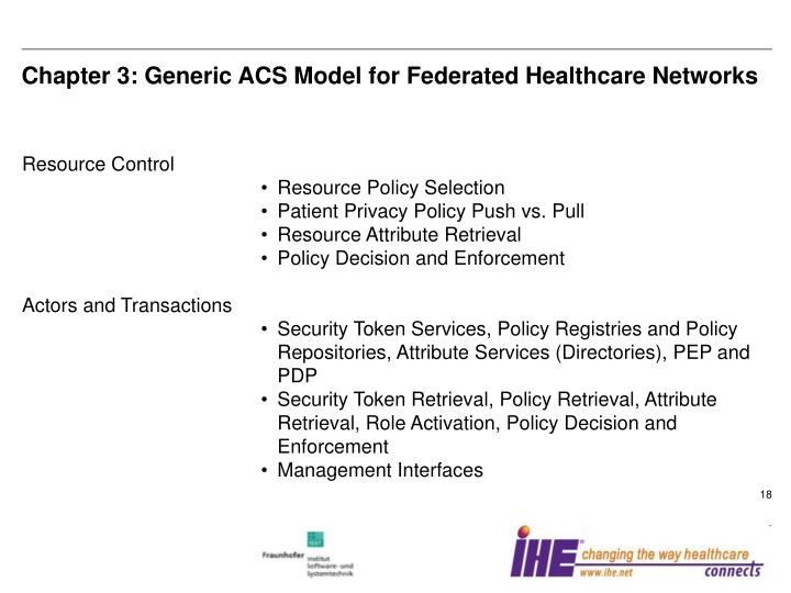 Chapter 3: Generic ACS Model for Federated Healthcare Networks