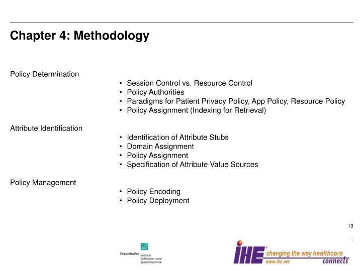 Chapter 4: Methodology