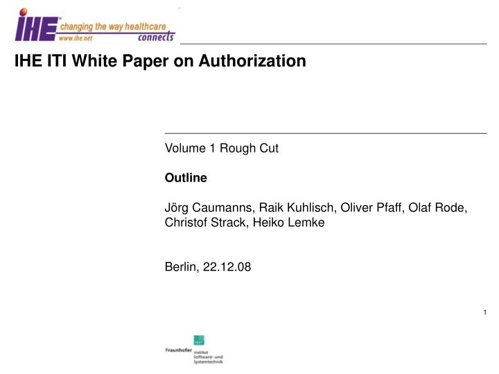 Ihe iti white paper on authorization