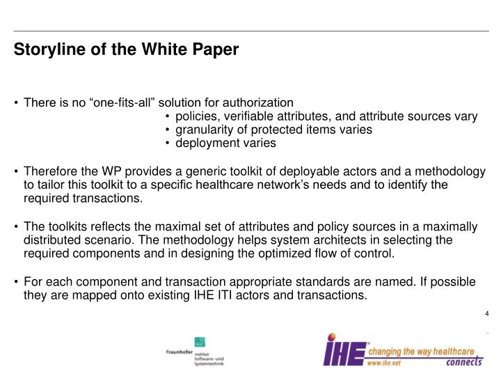 Storyline of the White Paper