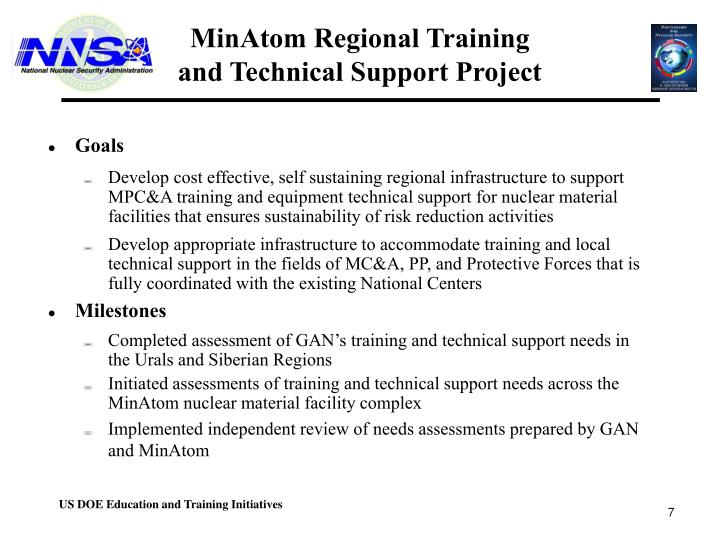 MinAtom Regional Training
