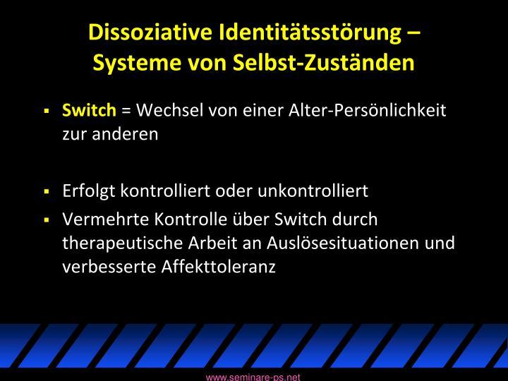 Dissoziative Identitätsstörung –