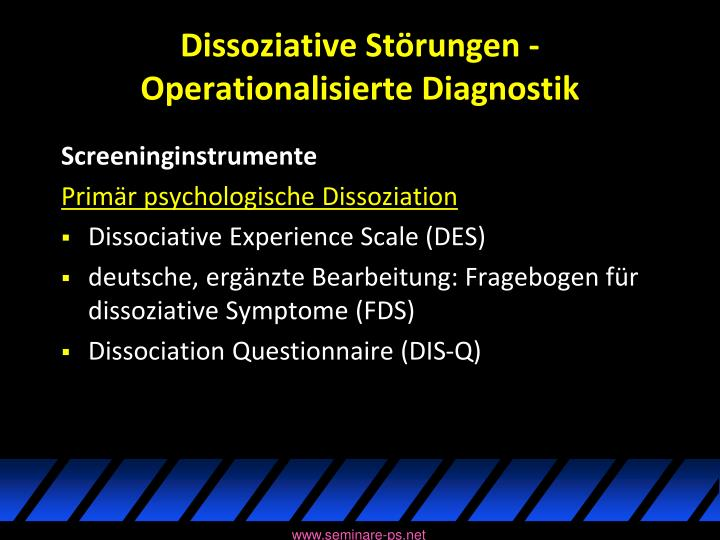 Dissoziative Störungen -