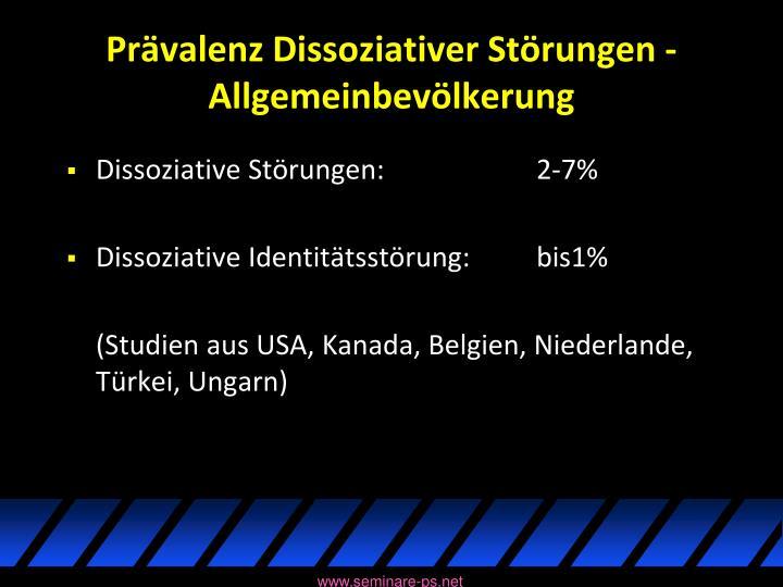 Prävalenz Dissoziativer Störungen - Allgemeinbevölkerung