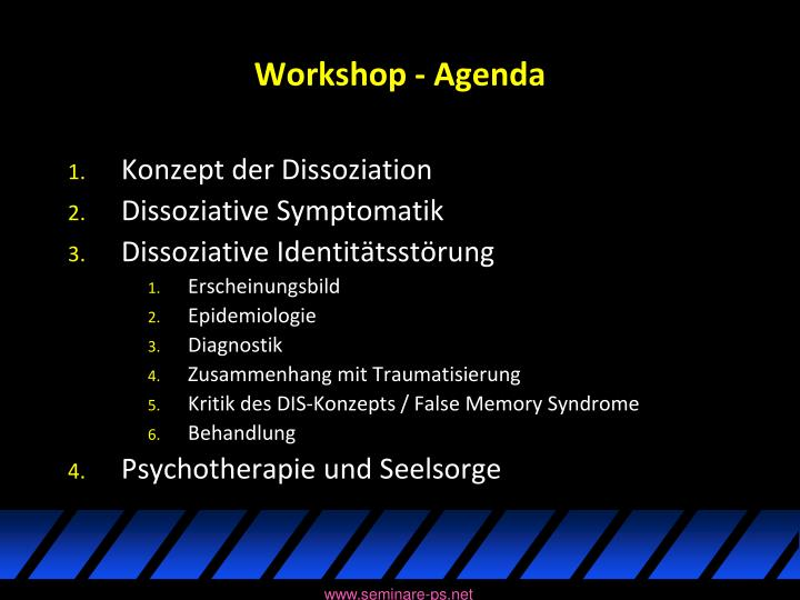 Workshop - Agenda