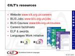cilt s resources