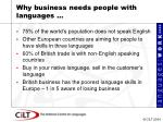 why business needs people with languages