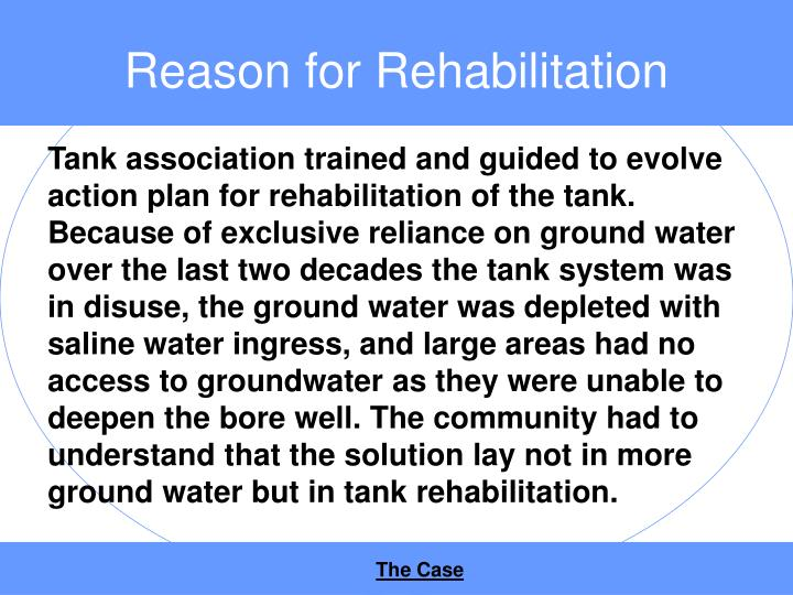 Reason for Rehabilitation