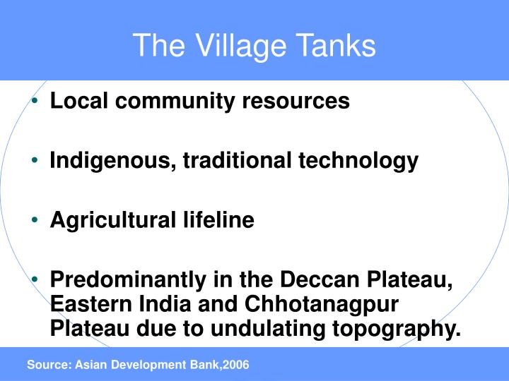 The Village Tanks