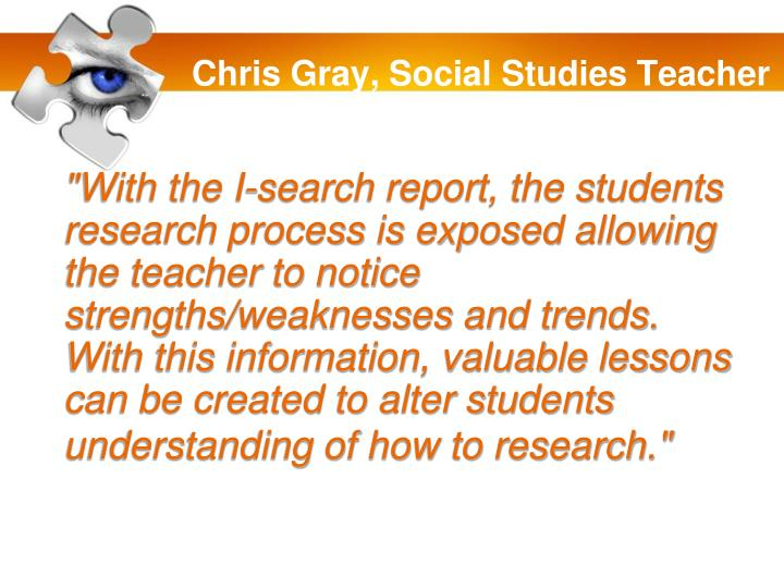Chris Gray, Social Studies Teacher