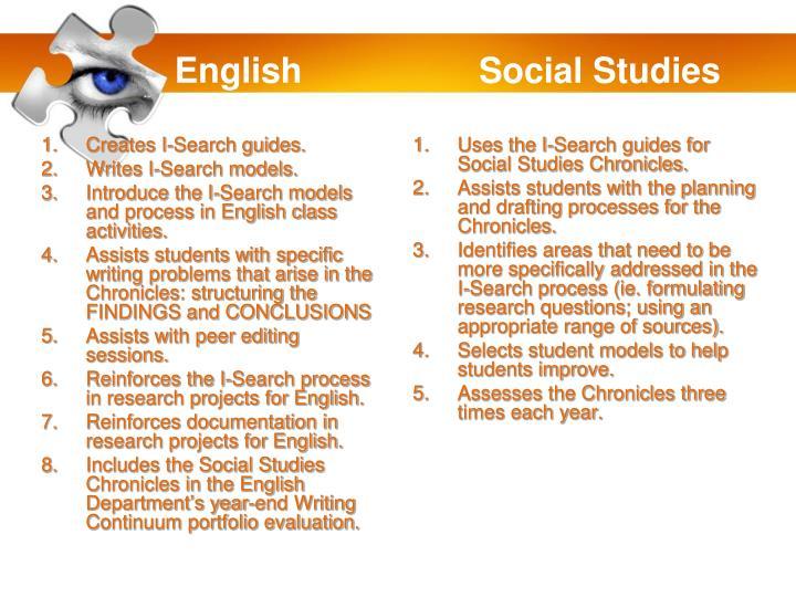 English                  Social Studies