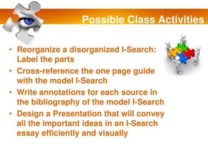 Possible Class Activities