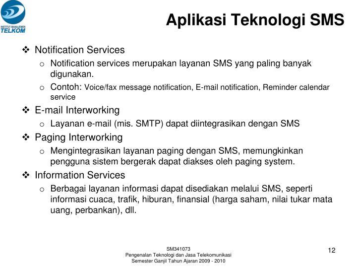 Aplikasi Teknologi SMS