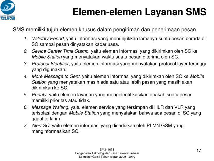 Elemen-elemen Layanan SMS