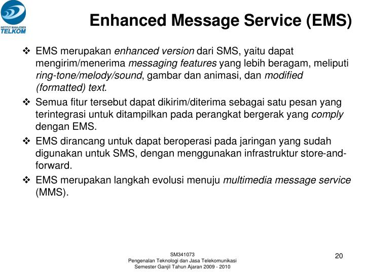 Enhanced Message Service (EMS)
