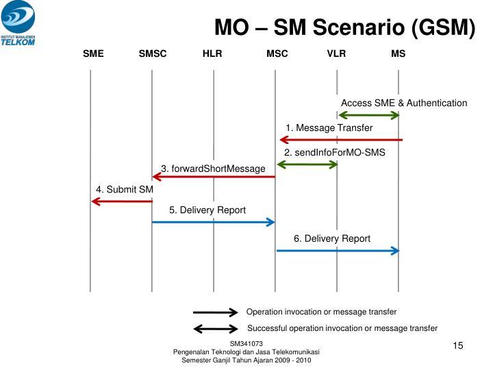 MO – SM Scenario (GSM)