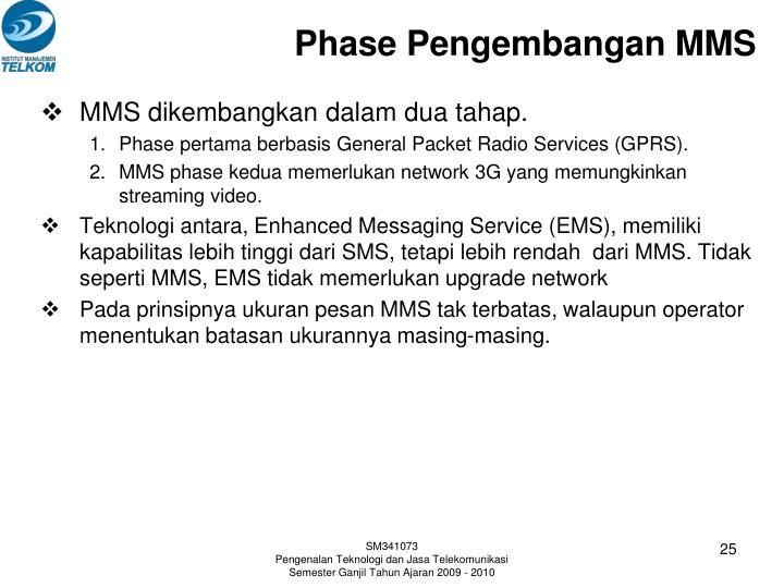 Phase Pengembangan MMS
