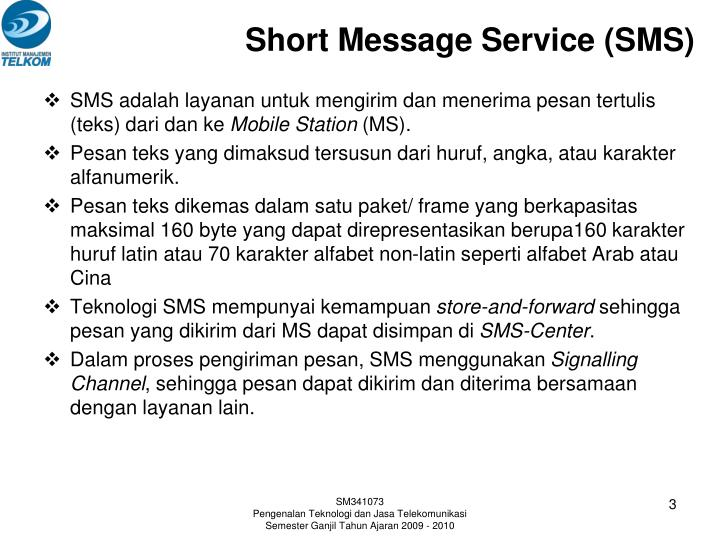 Short message service sms