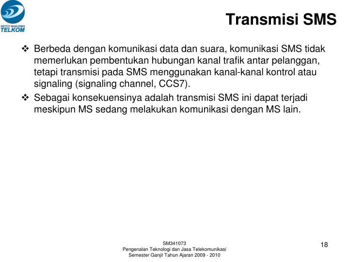 Transmisi SMS