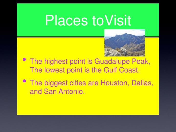 Places toVisit