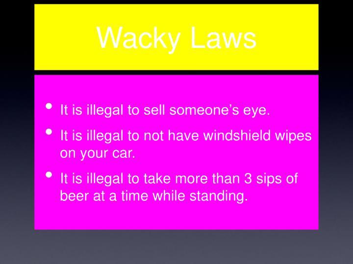 Wacky Laws