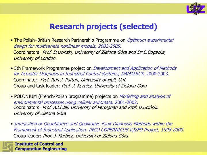Research projects
